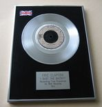 ERIC CLAPTON - I SHOT THE SHERIFF PLATINUM Single Presentation DISC